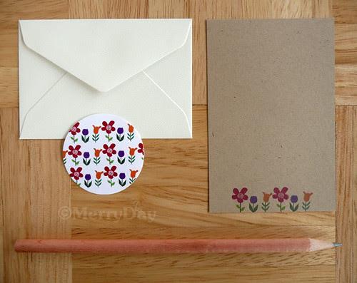 the brown series : fleur mini letter set