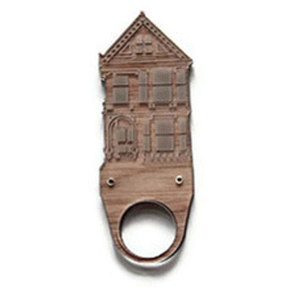 CHRISTINA ELLENI-AU/USA Wood  Perspex San Francisco House Ring (3,495 PHP) found on Polyvore  http://www.christinaelleni.com