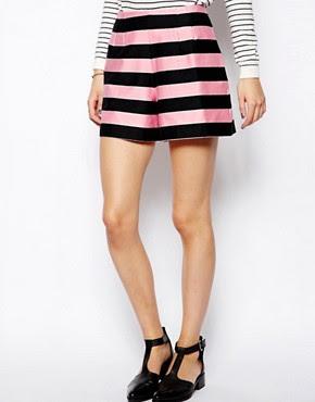 Immagine 4 di ASOS - Pantaloncini rosa rigato