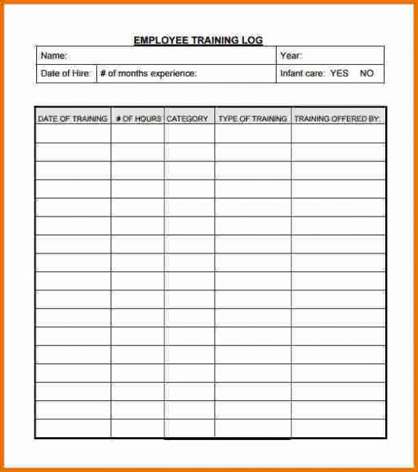 employee training record template excel training log template employee training log 600x678 nBYIEh