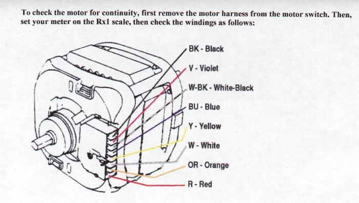 6 Wire Washing Machine Motor Wiring Diagram, Dryer Motor Wiring Diagram