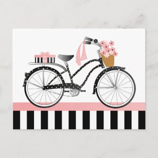Polka Dot Bike-New postcard