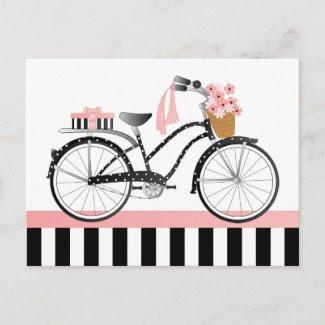 Polka Dot Bike-New postcard