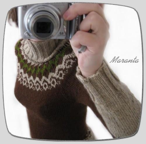 sweter wzór norweski