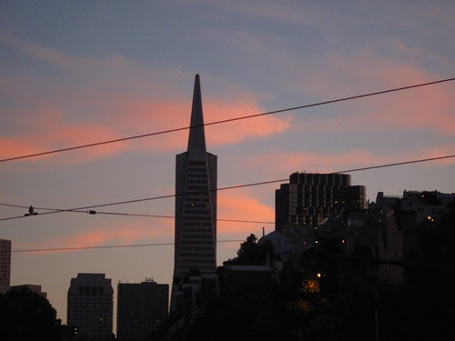 Sunset hues.