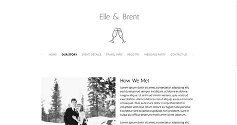 Create a Wedding Website: Templates & Ideas   Jimdo