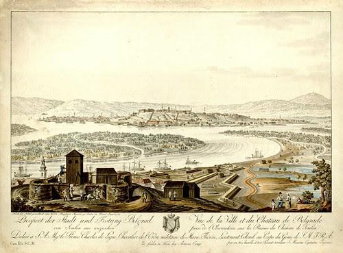 Plan grada i tvrdave Beograda by S Mancini, 1780s