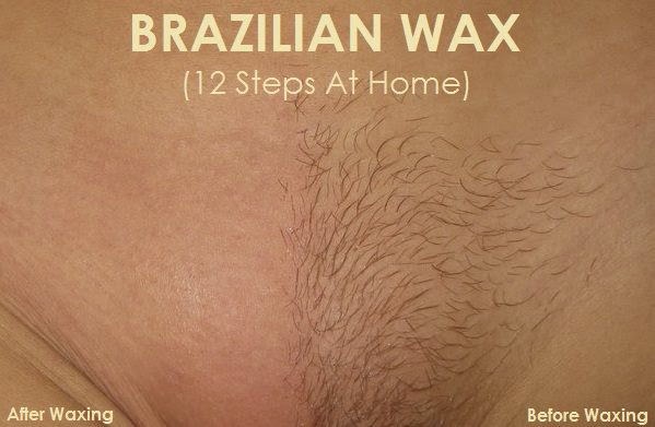 how to do a brazilian wax at home