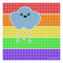 Mega Kawaii Happy Cloud Rainbow Poster print