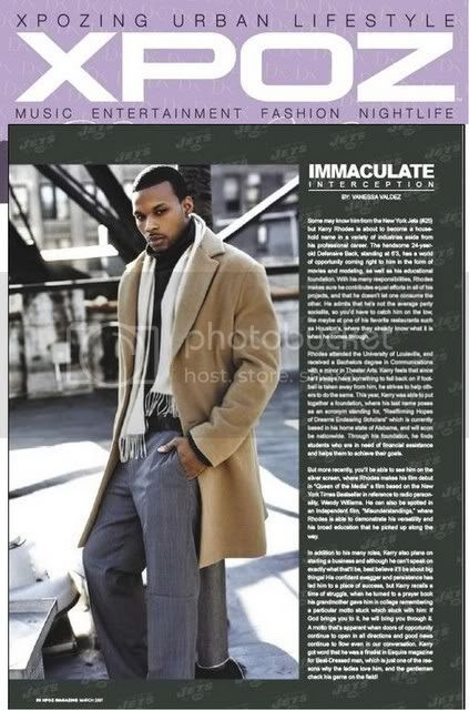 Kerry Rhodes Page 36 in XPOZ Magazine March and April 2007 Issue