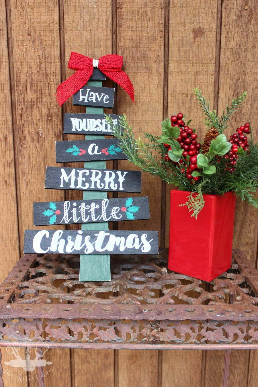 Hand Painted Christmas Tree Sign via The Kolb Corner
