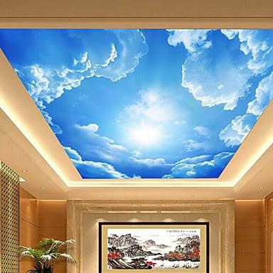 3d brillant effet cuir grand plafond du hall papier peint