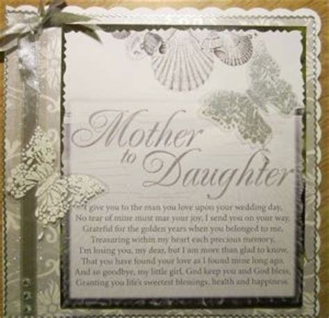 Card from Mother to Daughter on daughter's wedding   baby