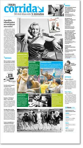 Versão especial da Folha Corrida traz textos que preservam o estilo e a linguagem de cada época