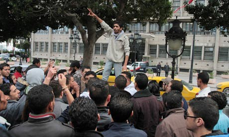 A demonstration in Saliana, Tunisia. The North African state underwent a change of regime during January 2011. by Pan-African News Wire File Photos