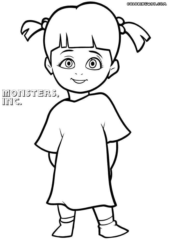 Boo Monsters Inc Drawing Drawing Tutorial Easy
