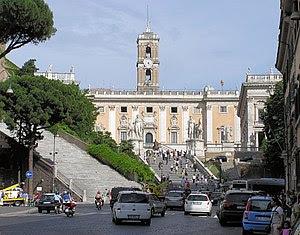 The Capitoline Hill cordonata (centre of pictu...