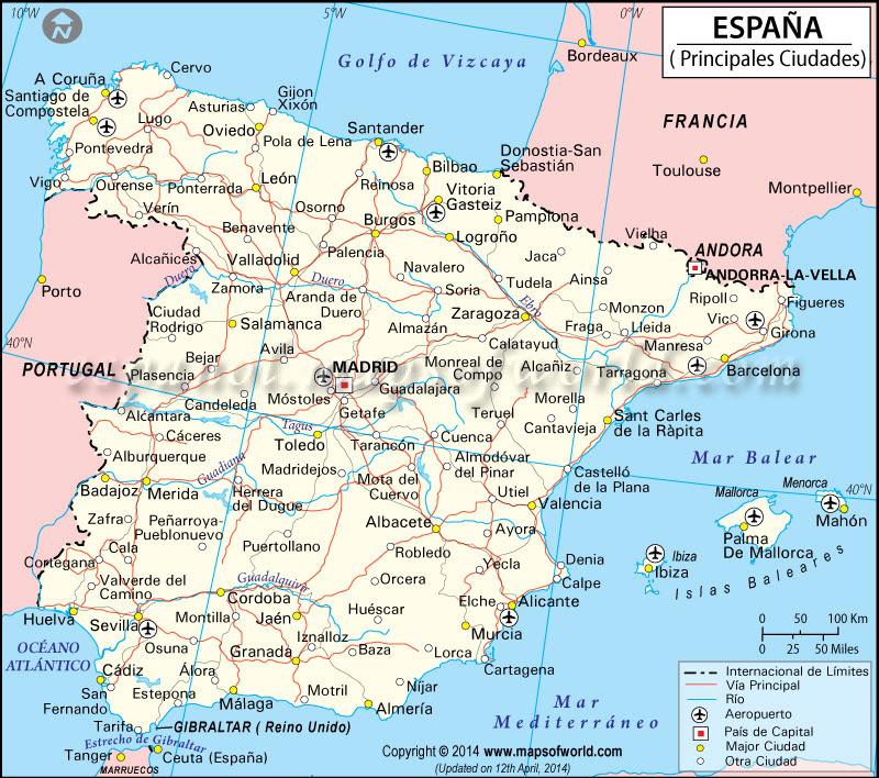 Mapa Costa Norte España.25 Inspirant Espagne Mapa