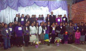Grupo da União Feminina de Florêncio Varella, com pastores e líderes
