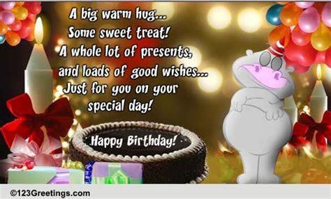 A Big Warm Hug On Your Birthday! Free For Kids eCards