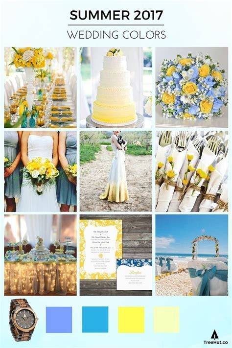 Walk Down the Aisle in 2017's Popular Wedding Colors in