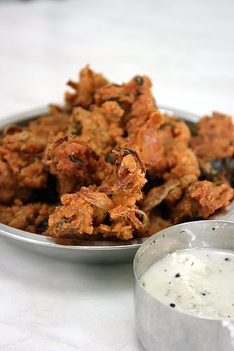 Onion pakoda or pakoras