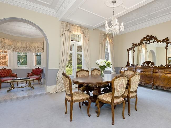 'Redrif' features high, decorative ceilings — another period feature of the home.