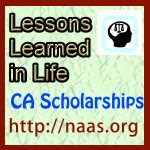 Lessons Learned in Life Scholarships for California students