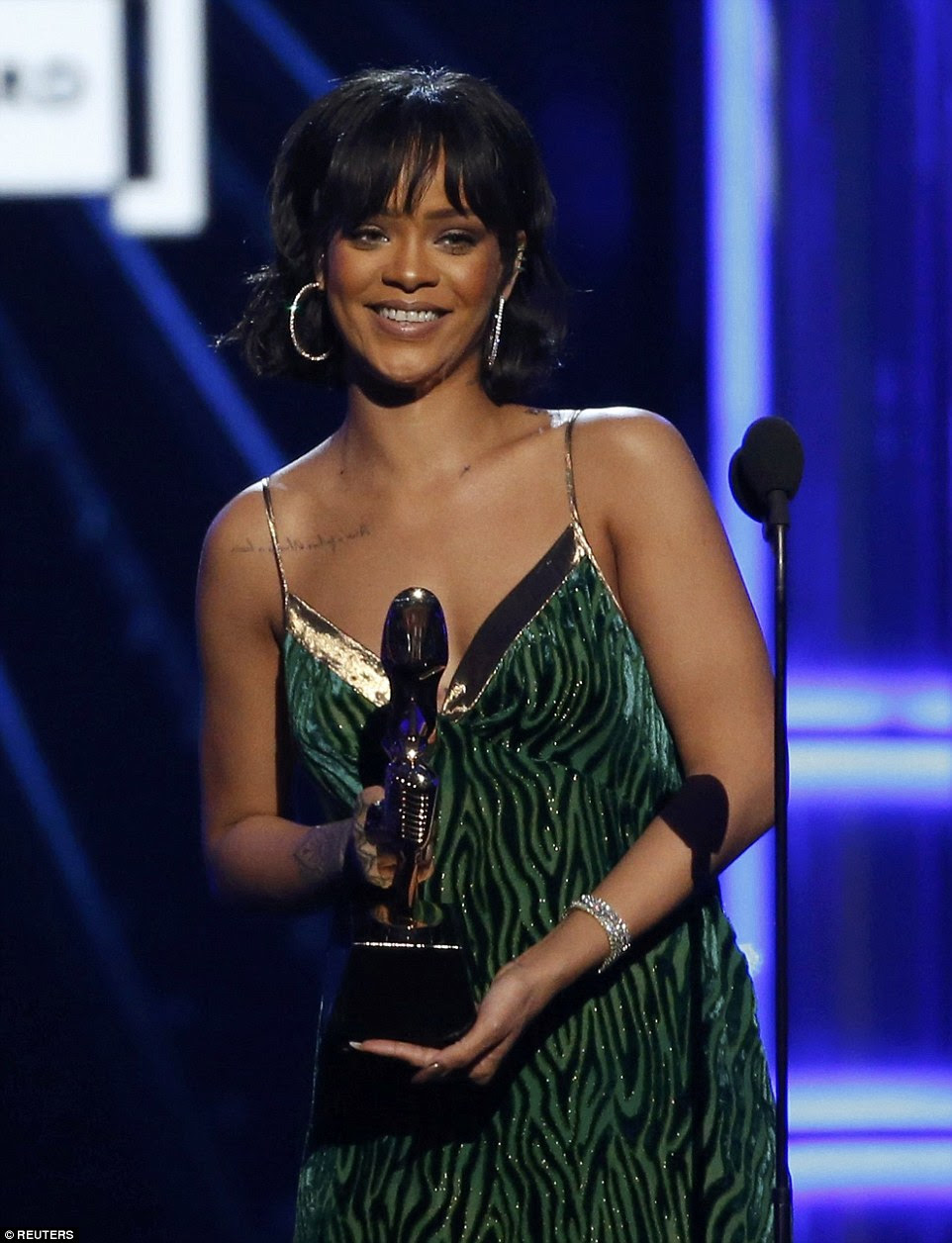 Big night: Rihanna took home the Billboard Chart Achievement Award at the 2016 Billboard Music Awards at T-Mobile Arena in Las Vegas, Nevada on Sunday night