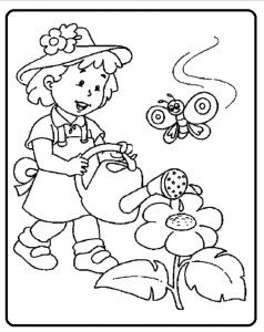 spring theme coloring pages for kids  preschool and kindergarten