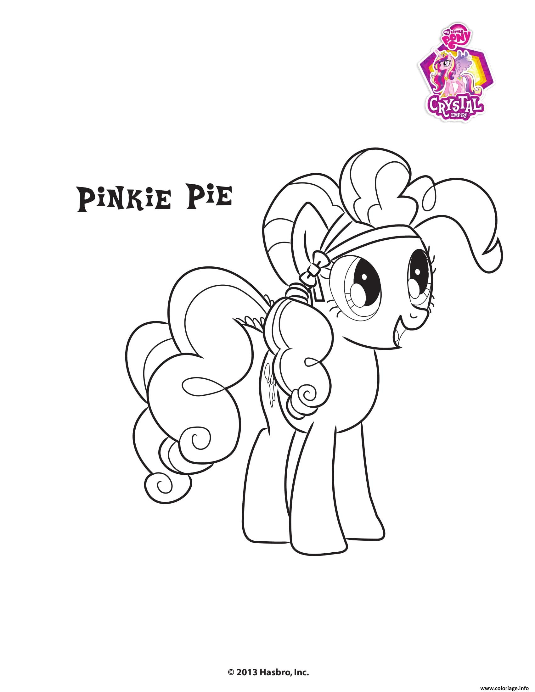 Coloriage Pinkie Pie Crystal Empire My Little Pony Jecoloriecom