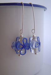 new chunky glass flowers