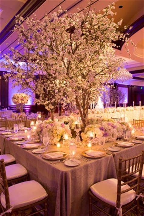 Elegant White   Lavender Ballroom Wedding with Cherry