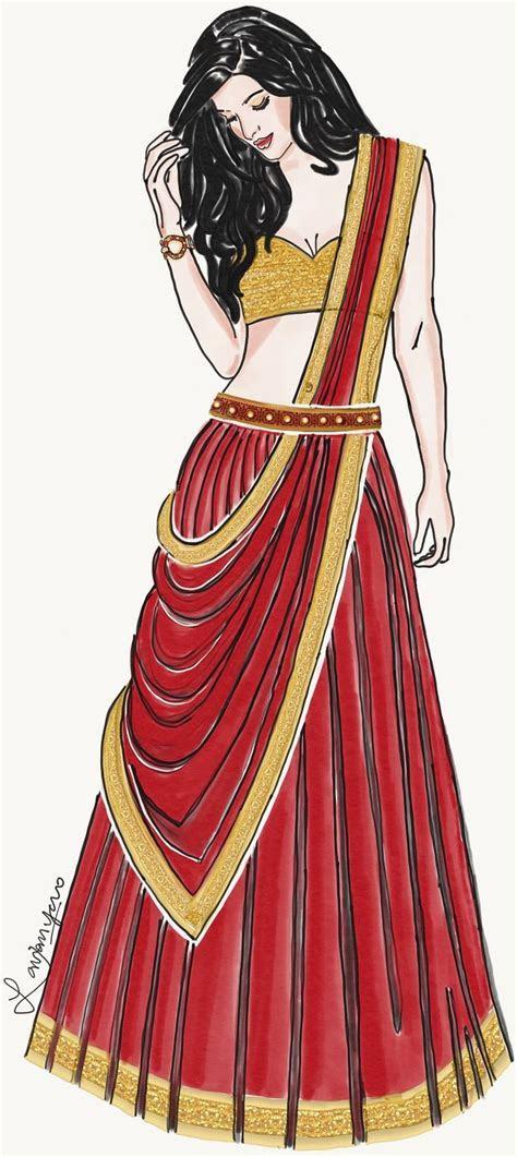 Fashion illustration  India Fashion   Lavanya P   Fashion