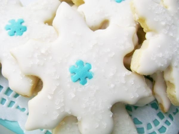 Sale ...Crystal White Snowflake Delight Sugar Cookies