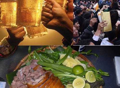 bia, thịt chó, ấn đền Trần
