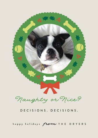 Doggy Nice List Holiday Photo Cards by Bonjour Berry   Minted