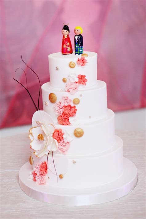 Japanese Inspired White Wedding Cake   Elizabeth Anne