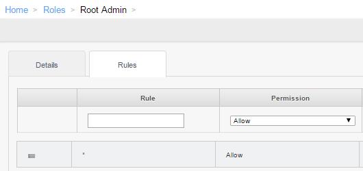 Root Admin Rules