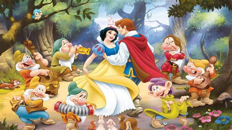 snow white    dwarfs dancing  prince
