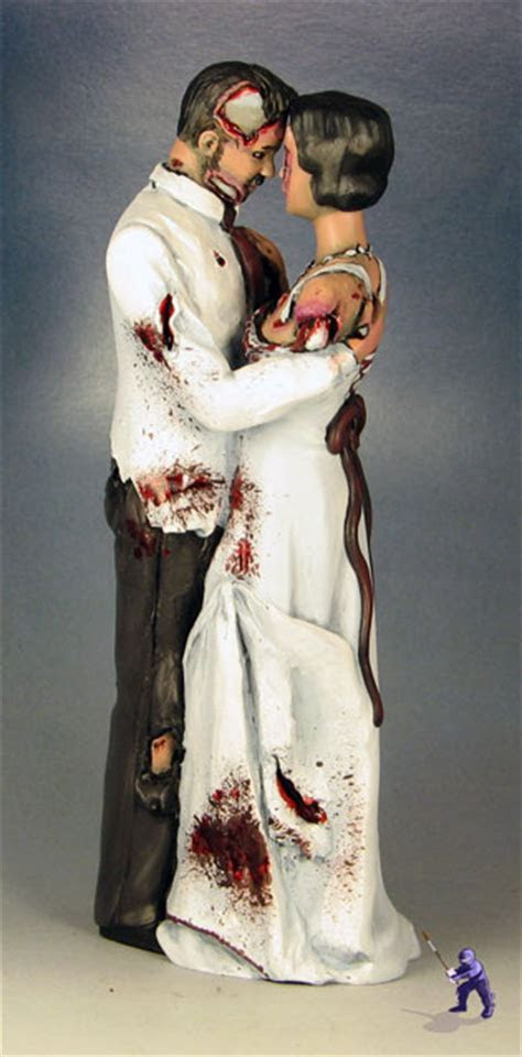 Dancing and Kissing Zombie Cake Toppers ? Garden Ninja Studios
