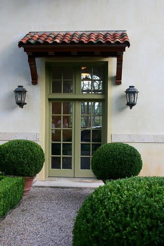 Green Garden garage door