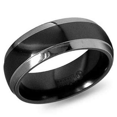 Mens Black Platinum Wedding Bands   Platinum Wedding Band