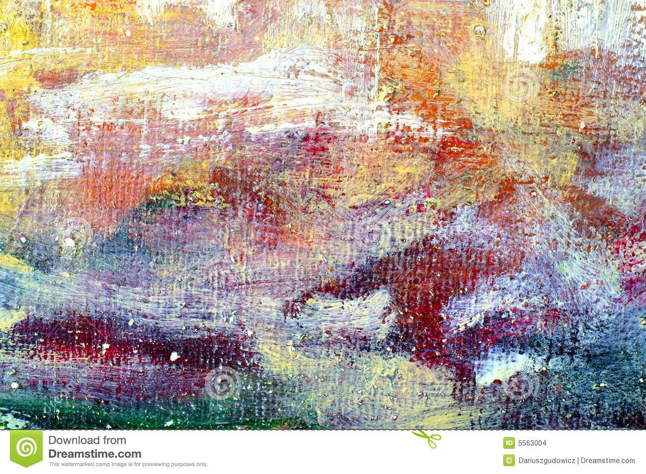 Oil color painting closeup for colorful abstract background.