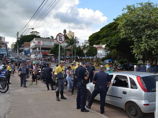 Guarda Municipal recebeu treinamento do Detran em São Carlos (Foto: Orlando Duarte Neto/G1)