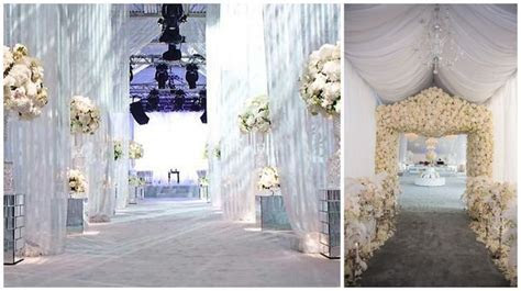 Grand entryways, event decor, pipe and drape entrances