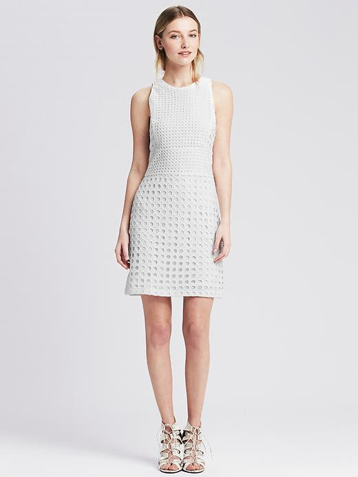 Banana Republic Eyelet Sheath Dress