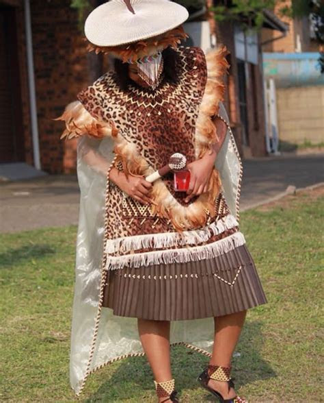 Bride In Zulu Traditional Wedding Attire; Imvunulo