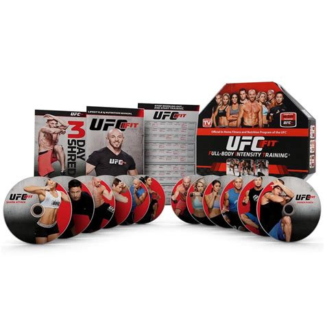 ufc fit full body intensity training dvd set  week