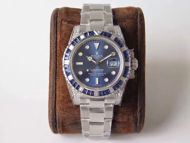 Replica Rolex Submariner Blue Gems